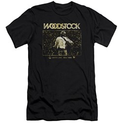 Woodstock - Mens White Lake Crowd Premium Slim Fit T-Shirt
