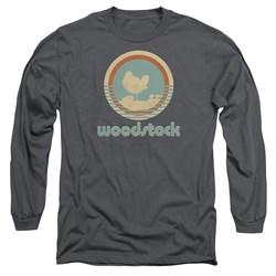 Woodstock - Mens Bird Circle Long Sleeve T-Shirt