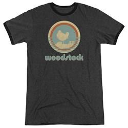 Woodstock - Mens Bird Circle Ringer T-Shirt
