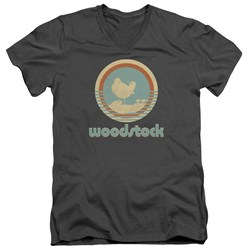 Woodstock - Mens Bird Circle V-Neck T-Shirt