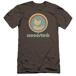 Woodstock - Mens Bird Circle Premium Slim Fit T-Shirt