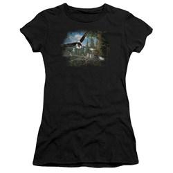 Wildlife - Juniors Spring Bald Eagles Premium Bella T-Shirt