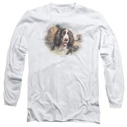 Wildlife - Mens Springer Spaniel Head Long Sleeve T-Shirt