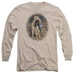 Wildlife - Mens Yellow Lab With Pheasant Long Sleeve T-Shirt