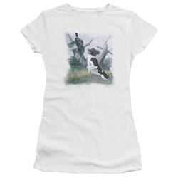 Wildlife - Juniors Springer With Pheasant Premium Bella T-Shirt