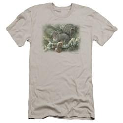 Wildlife - Mens Gray Squirrel Premium Slim Fit T-Shirt