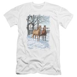 Wildlife - Mens Coffee And Chocolate Premium Slim Fit T-Shirt