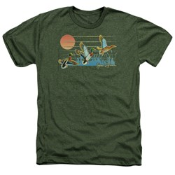 Wild Wings - Mens Three Ducks Heather T-Shirt