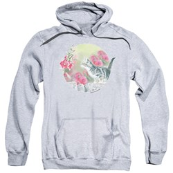 Wild Wings - Mens Kitten Flowers Pullover Hoodie