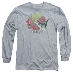 Wild Wings - Mens Kitten Flowers Long Sleeve T-Shirt