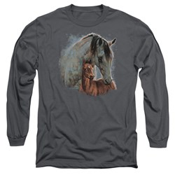 Wild Wings - Mens Painted Horses Long Sleeve T-Shirt