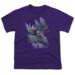 Wild Wings - Youth Chickadees And Lilacs T-Shirt