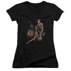 Wonder Woman Movie - Juniors Fierce V-Neck T-Shirt