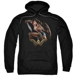 Wonder Woman Movie - Mens Fight Pullover Hoodie