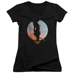 Wonder Woman Movie - Juniors Wisdom And Wonder V-Neck T-Shirt