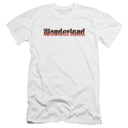 Zenoscope - Mens Wonderland Logo Premium Slim Fit T-Shirt