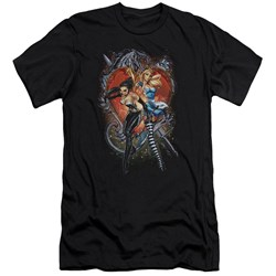 Zenoscope - Mens Heart Premium Slim Fit T-Shirt
