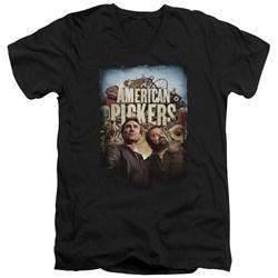 American Pickers - Mens Picker Poster V-Neck T-Shirt