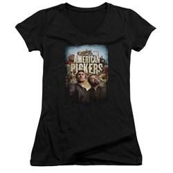 American Pickers - Juniors Picker Poster V-Neck T-Shirt