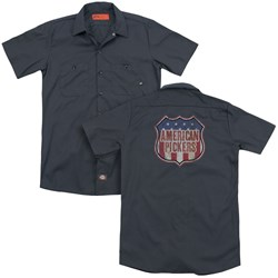 American Pickers - Mens Vintage Sign (Back Print) Work Shirt
