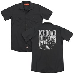Ice Road Truckers - Mens Break The Ice (Back Print) Work Shirt