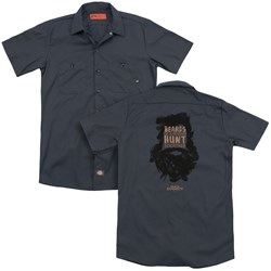 Duck Dynasty - Mens Beards Of A Feather (Back Print) Work Shirt