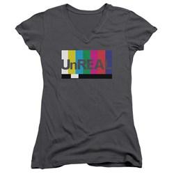 Unreal - Juniors Unreal V-Neck T-Shirt