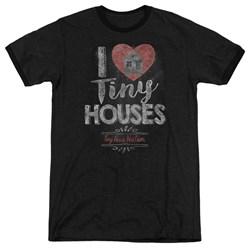 Tiny House Nation - Mens I Heart Tiny Houses Ringer T-Shirt