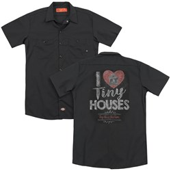 Tiny House Nation - Mens I Heart Tiny Houses (Back Print) Work Shirt