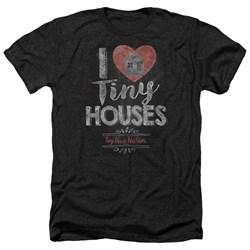 Tiny House Nation - Mens I Heart Tiny Houses Heather T-Shirt