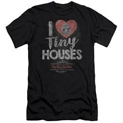 Tiny House Nation - Mens I Heart Tiny Houses Slim Fit T-Shirt