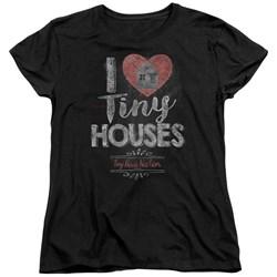 Tiny House Nation - Womens I Heart Tiny Houses T-Shirt