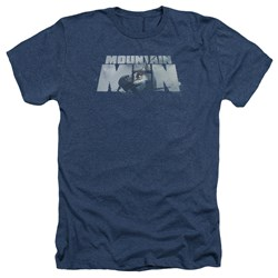 Mountain Men - Mens Live For A Living Heather T-Shirt