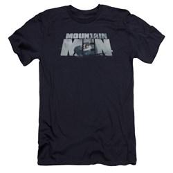 Mountain Men - Mens Live For A Living Premium Slim Fit T-Shirt