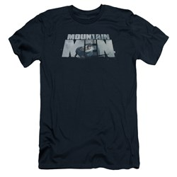 Mountain Men - Mens Live For A Living Slim Fit T-Shirt