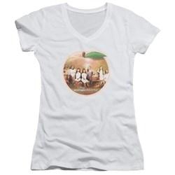 Little Women Atlanta - Juniors Peach Pie V-Neck T-Shirt