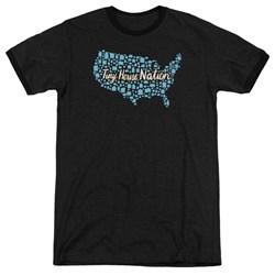 Tiny House Nation - Mens Nation Of Houses Ringer T-Shirt