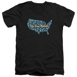 Tiny House Nation - Mens Nation Of Houses V-Neck T-Shirt