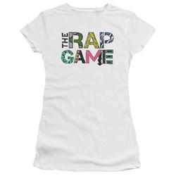 The Rap Game - Juniors The Rap Game Logo Premium Bella T-Shirt