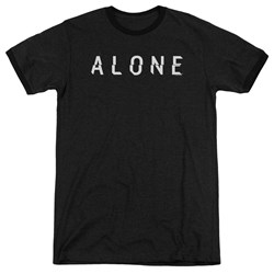 Alone - Mens Alone Logo Ringer T-Shirt
