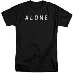 Alone - Mens Alone Logo Tall T-Shirt