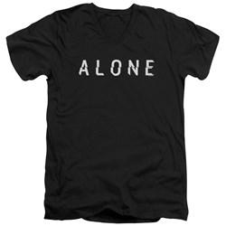 Alone - Mens Alone Logo V-Neck T-Shirt