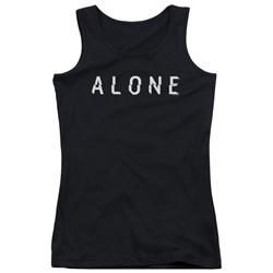 Alone - Juniors Alone Logo Tank Top