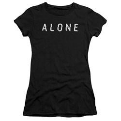 Alone - Juniors Alone Logo Premium Bella T-Shirt