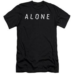 Alone - Mens Alone Logo Premium Slim Fit T-Shirt