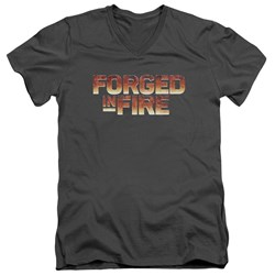 Forged In Fire - Mens Forged In Fire Logo V-Neck T-Shirt