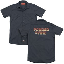 Forged In Fire - Mens Forged In Fire Logo (Back Print) Work Shirt