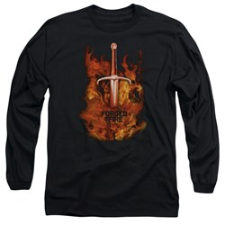 Forged In Fire - Mens Sword In Fire Long Sleeve T-Shirt