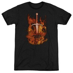 Forged In Fire - Mens Sword In Fire Ringer T-Shirt