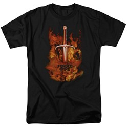 Forged In Fire - Mens Sword In Fire T-Shirt